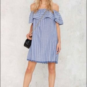 Nasty Gal Loveriche Tulum Linen Dress Tunic M